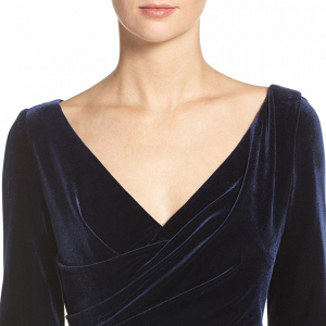 Navy velvet mother-of-the-bride