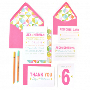 'Lily Pop' Invitation Suite