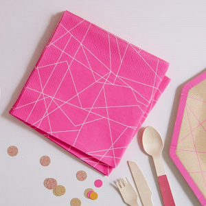 Neon-Pink Party Napkins