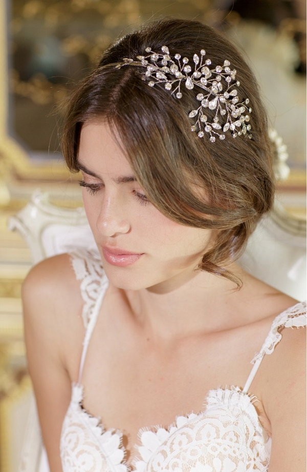 Jeweled bridal headpiece