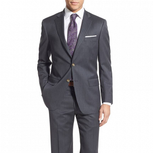 Classic Gray Pinstripe Suit