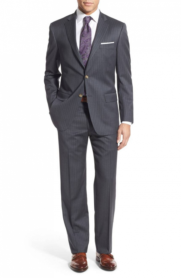 Classic Gray Pinstripe Suit