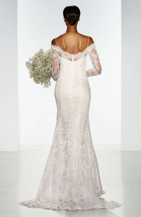 Off-Shoulder, Long Sleeve Lace Wedding Dress