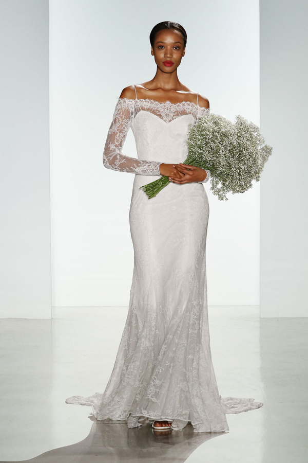 Tilly Lace Off-Shoulder Long Sleeve Bridal Gown