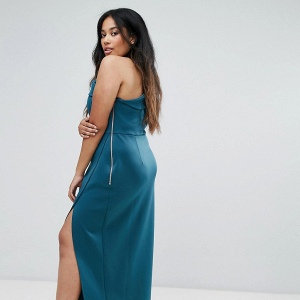 One-Shoulder Maxi with Exposed Zip