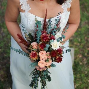 Boho Dried Bridal Bouquet