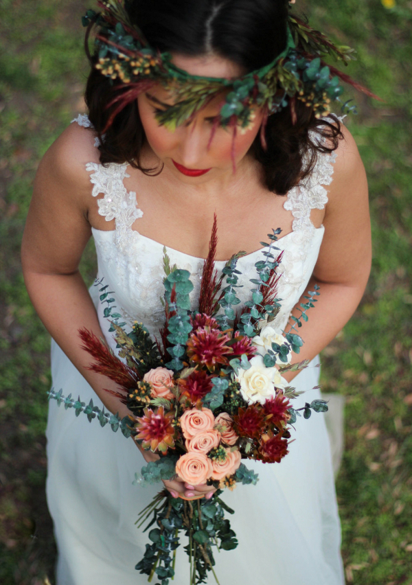 Boho Dried Bridal Bouquet