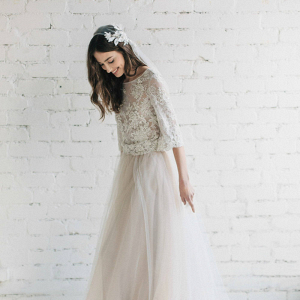 Bohemian Two Piece Wedding Dress