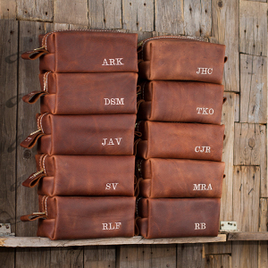Personalized Leather Toiletry bags