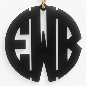 Black Monogram Key Chain