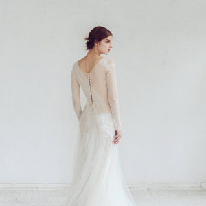 Winter Wedding Dress Back