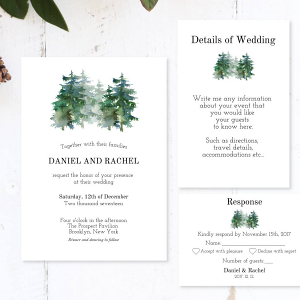 Winter Wedding Invitation Printable