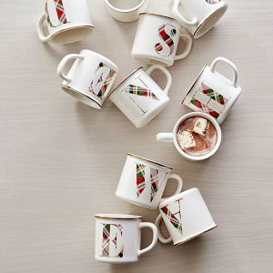Plaid Monogram Mugs