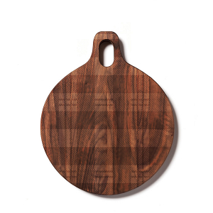 Plaid-patterned cutting board