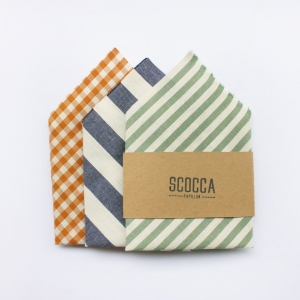 Striped and plaid pocket squares