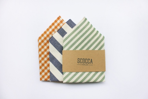 Striped and plaid pocket squares
