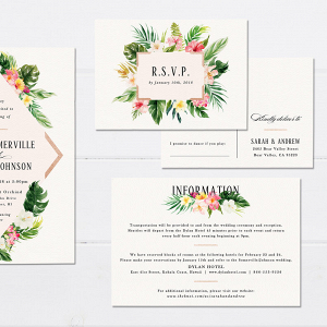 Tropical Wedding Invite