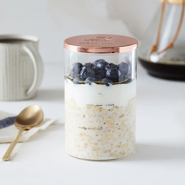 Quaker Overnight Oats and Jar