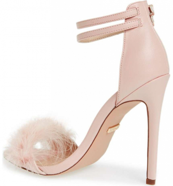 Blush Feather Bridal Shoes