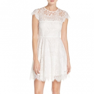 Illusion yoke lace dress