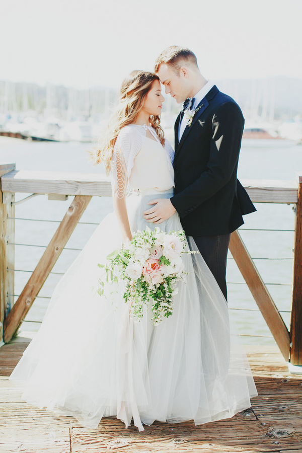Sausalito seaside wedding portrait