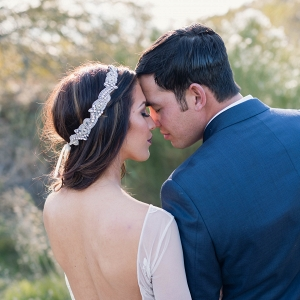 Beautiful portrait from a winter wedding in Arizona