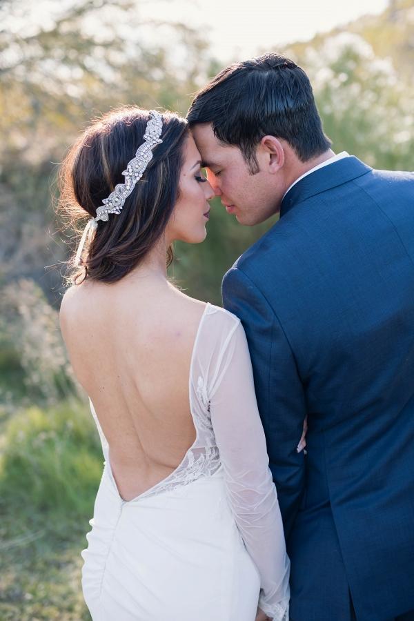 Beautiful portrait from a winter wedding in Arizona