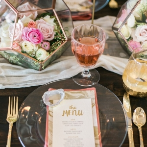 An elegantly earthy styled shoot inspired by Pantone's Color of the Year, Rose Quartz and Serenity