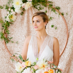 A rose-gold and mint wedding shoot in New York City