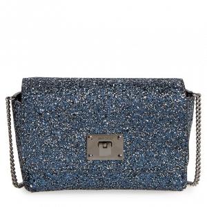 Glittery blue clutch