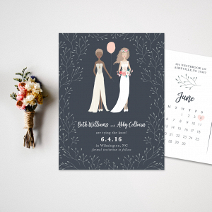 Same Sex Wedding Save the Date