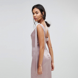 Sateen Midi Bridesmaid Dress