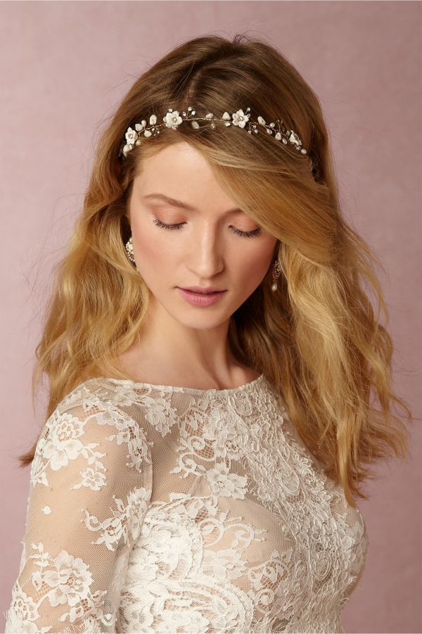 Delicate floral hair halo