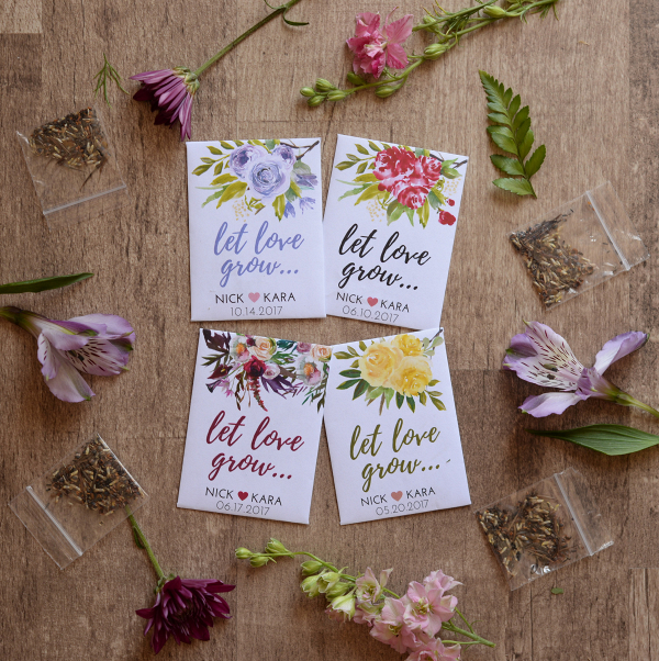 Seed Packet Wedding Favors - Aisle Society