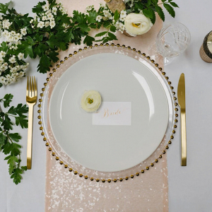 Blush Sequin Table Linen