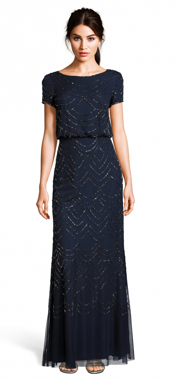 Navy Mother of the Bride Dress