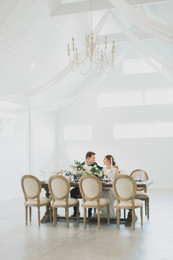 Elegant tablescape at the RoseMary Barn