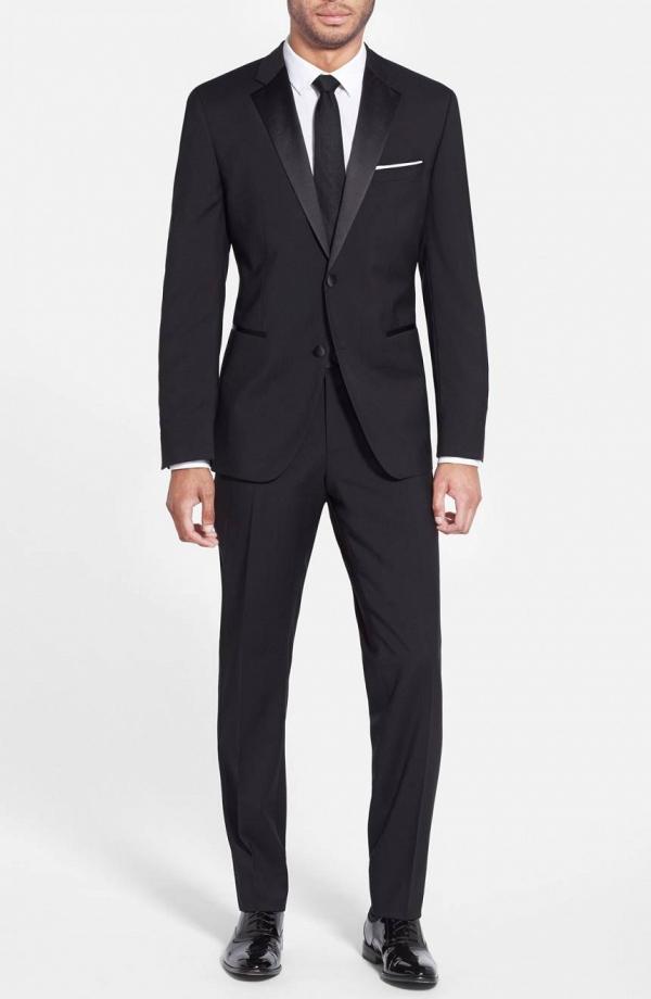Trim-Fit Wool Tuxedo