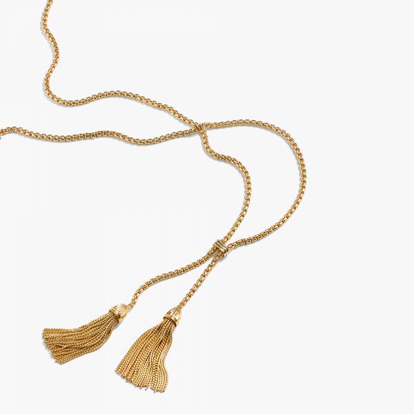 Gold Tassel Chain Necklace