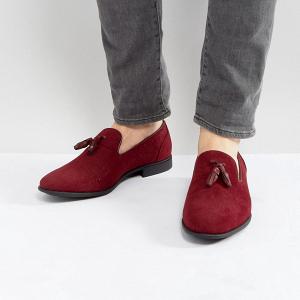 Burgundy Tassel Loafers