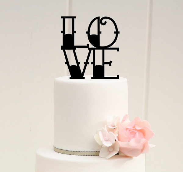 Tattoo-inspired cake topper