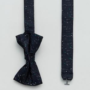 Navy Fleck Bow Tie