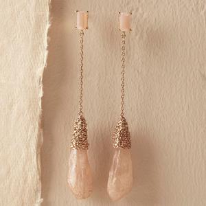 Blush Stone Bridal Earrings