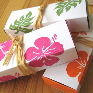 Tropical favor boxes