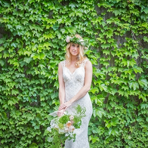 Urban garden wedding at the Hickory Street Annex
