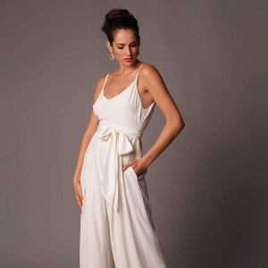 'Bali' Wide-Leg Bridal Jumpsuit
