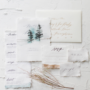 Winter Forest Wedding Invitation Suite