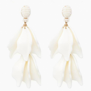 Winter White Finial Earrings