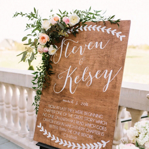 Customised Wooden Wedding Sign