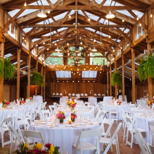Lodge wedding reception